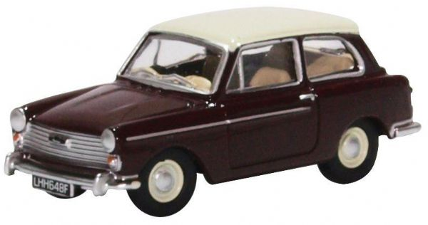 Oxford 76AA007 AA007 1/76 OO Scale  Austin A40 MkII   Maroon B Snowberry White
